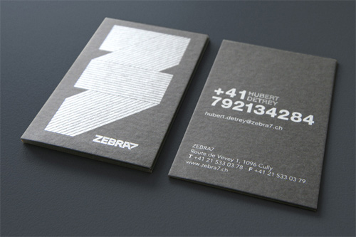 zebra1 100 Refreshing Black & White Business Cards