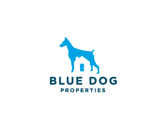 Blue Dog Properties 70 Beautiful Animal Logo Designs