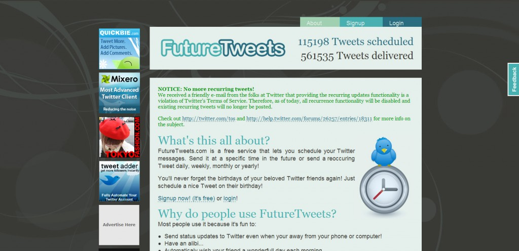 FutureTweets 1024x496 18 Tools for Scheduling Future Tweets