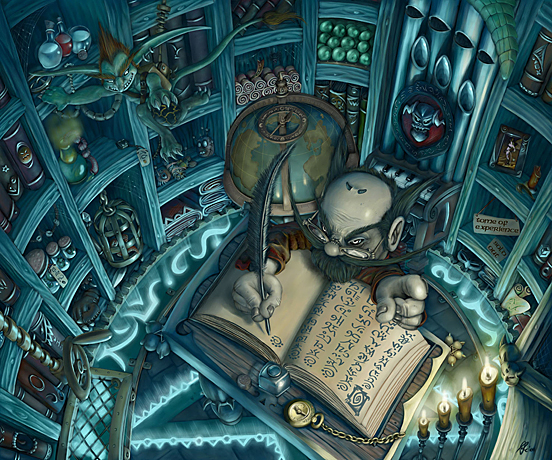 Gnome Warlock Shop final 55 Captivating Examples of Illustration  Art