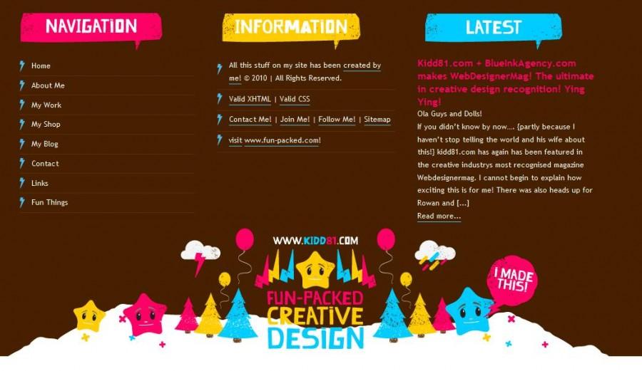 Kidd81 60 Inspiring Footer Designs