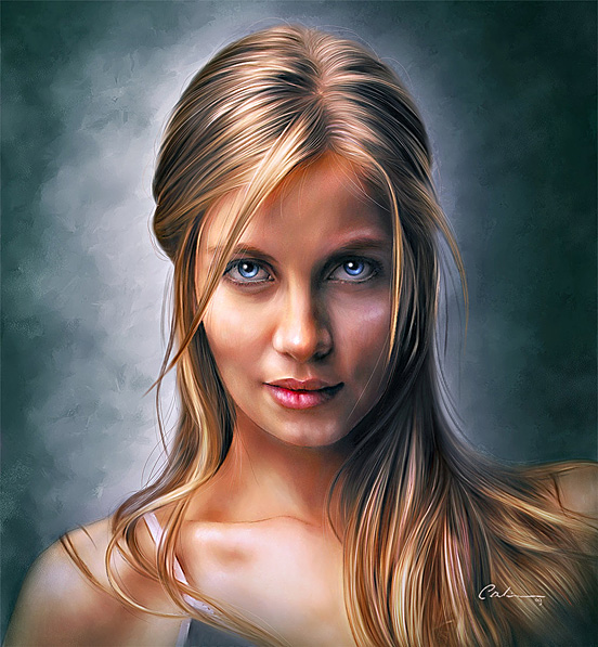 Portrait of a young girl 55 Captivating Examples of Illustration Art