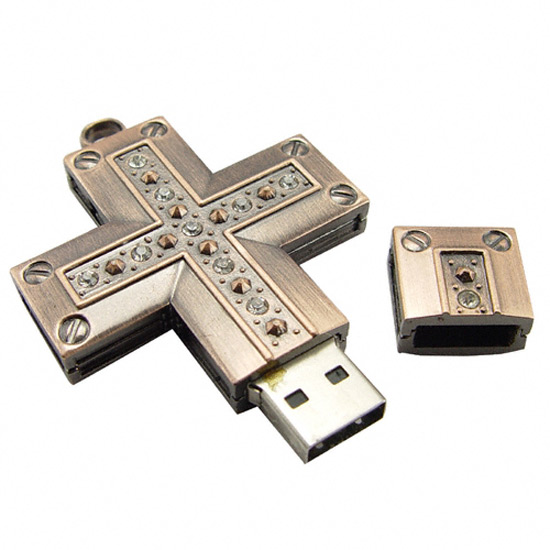 The Brass Cross USB 55 Creative Examples of USB Designs