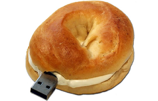 bagel usb 55 Creative Examples of USB Designs