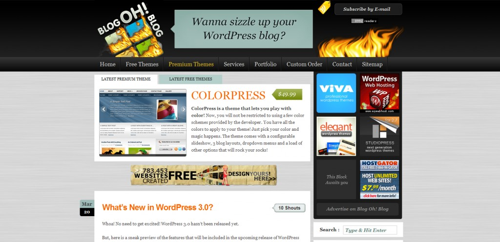 blogohblog 1024x496 31 Websites to Purchase Premium Wordpress Themes