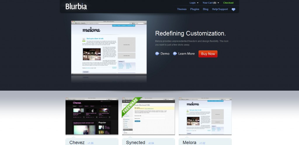 blurbia 1024x496 31 Websites to Purchase Premium Wordpress Themes