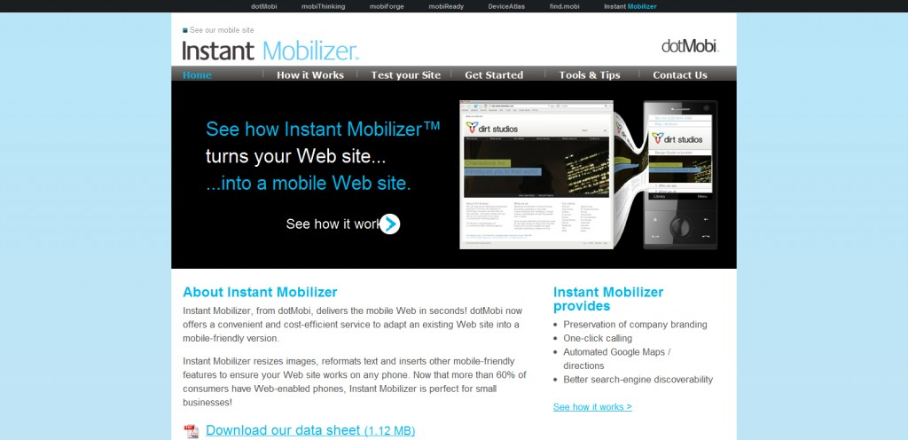 instantmobilizer 1024x496 How To Make Your Website Mobile