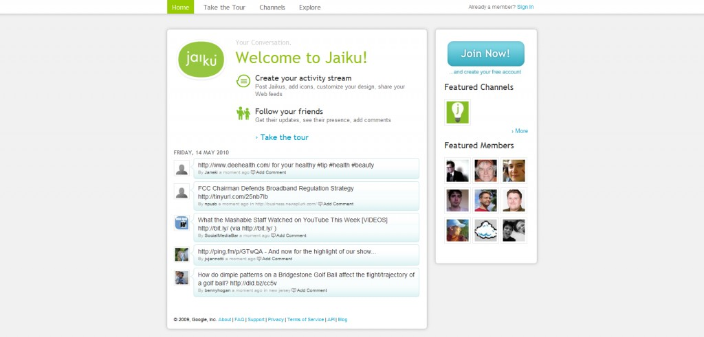 jaiku 1024x491 Leave Facebook For These 11 Alternatives