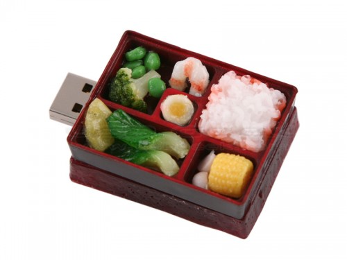 japanese bento box usb 55 Creative Examples of USB Designs