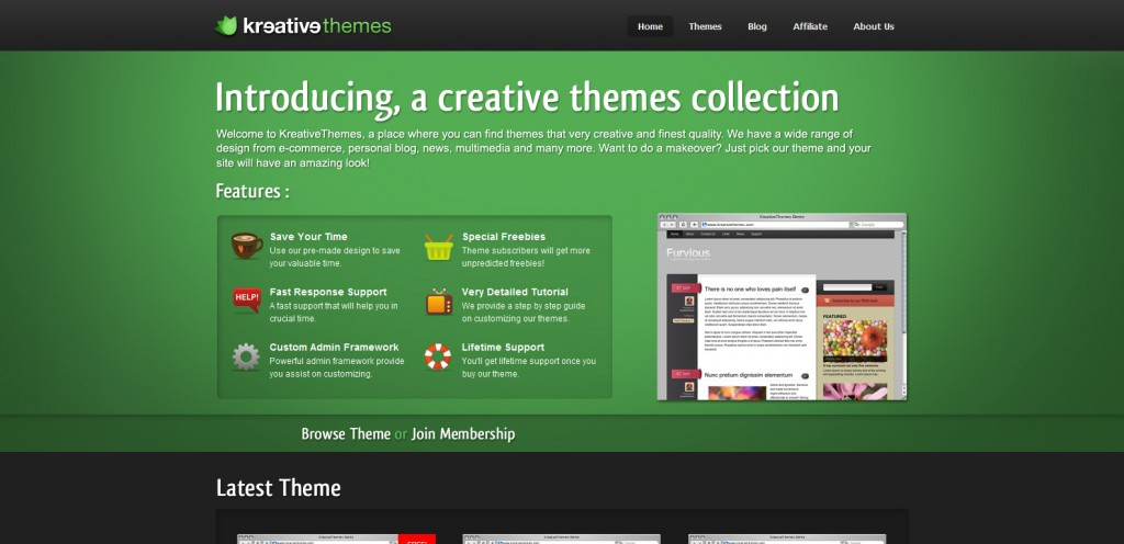 kreativethemes 1024x496 31 Websites to Purchase Premium Wordpress Themes