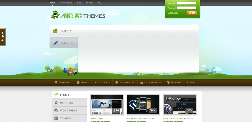 mojo themes 1024x496 31 Websites to Purchase Premium Wordpress Themes