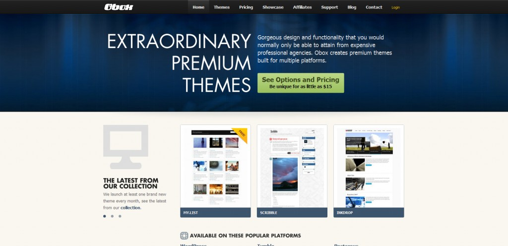obox design 1024x496 31 Websites to Purchase Premium Wordpress Themes