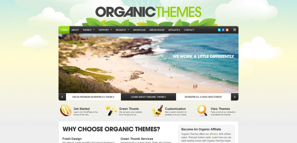 organicthemes 1024x496 31 Websites to Purchase Premium Wordpress Themes