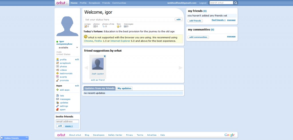 orkut 1024x491 Leave Facebook For These 11 Alternatives