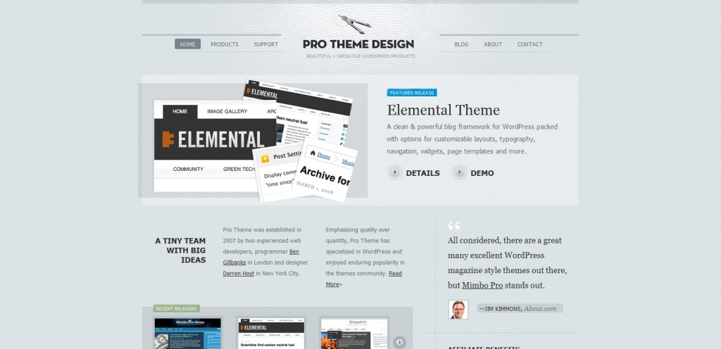 prothemedesign 1024x496 31 Websites to Purchase Premium Wordpress Themes