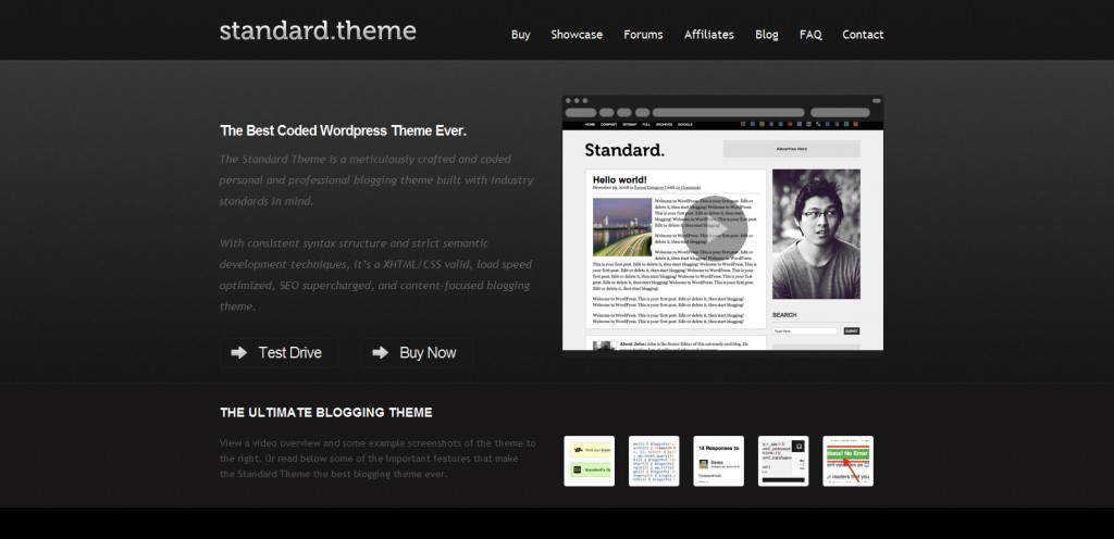 standardtheme 1024x496 31 Websites to Purchase Premium Wordpress Themes