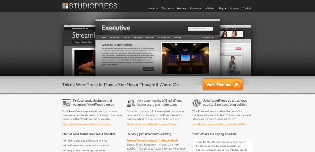 studiopress 1024x496 31 Websites to Purchase Premium Wordpress Themes