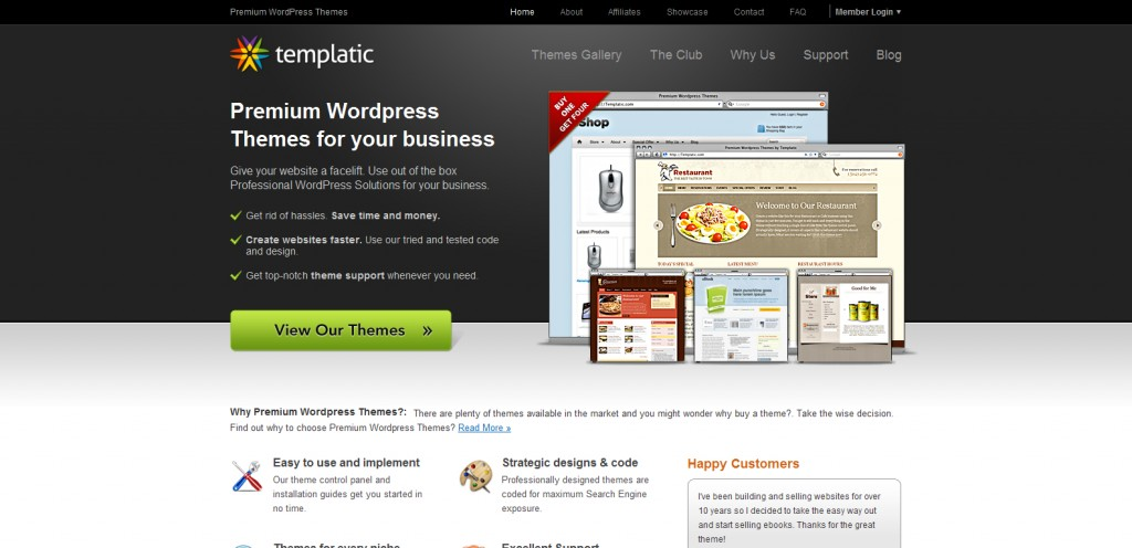 templatic 1024x496 31 Websites to Purchase Premium Wordpress Themes