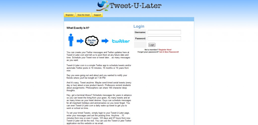tweet u later 1024x496 18 Tools for Scheduling Future Tweets