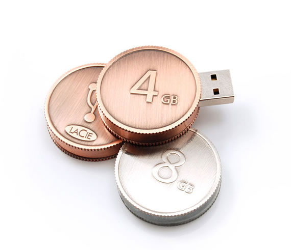 usb coin flash drives 55 Creative Examples of USB Designs