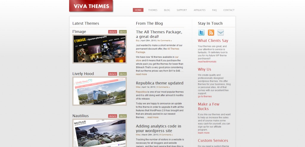 vivathemes 1024x496 31 Websites to Purchase Premium Wordpress Themes