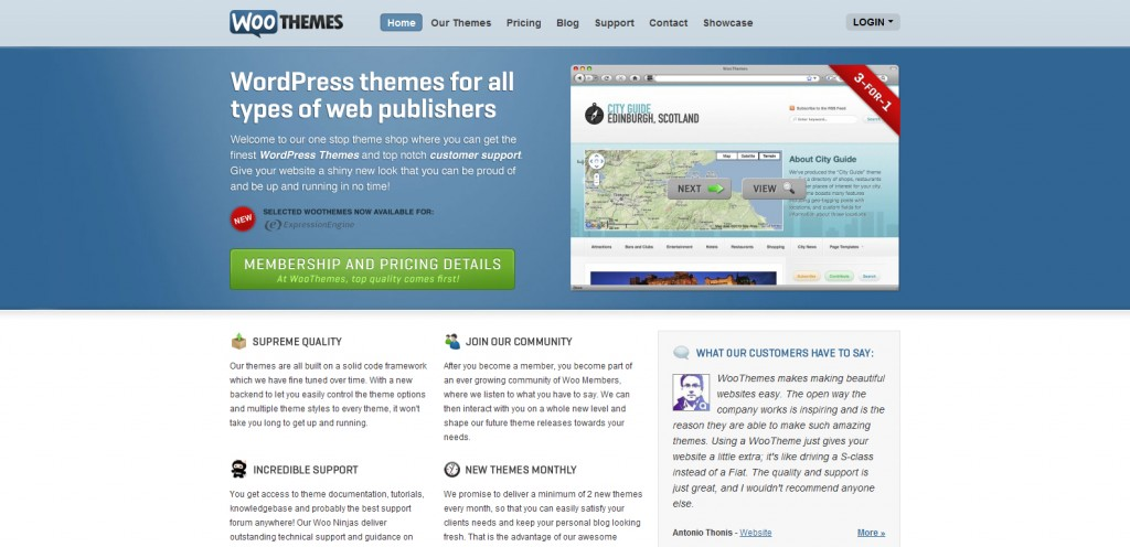 woothemes1 1024x496 31 Websites to Purchase Premium Wordpress Themes