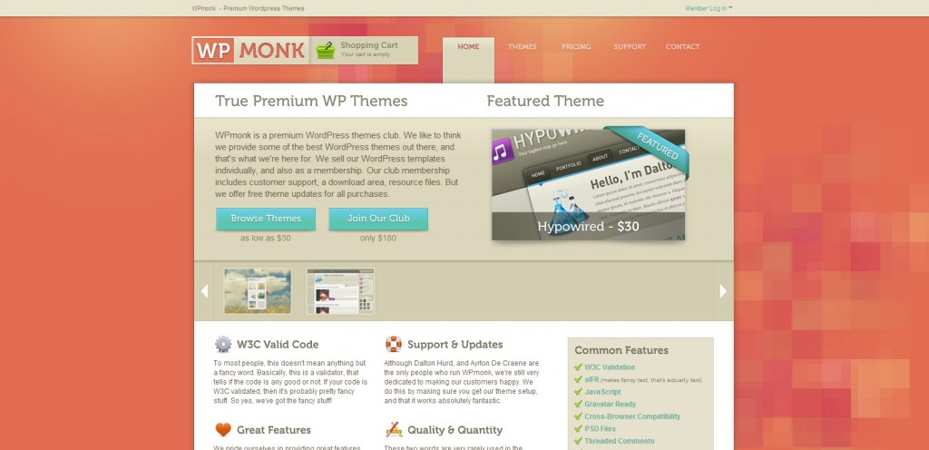 wpmonk 1024x496 31 Websites to Purchase Premium Wordpress Themes