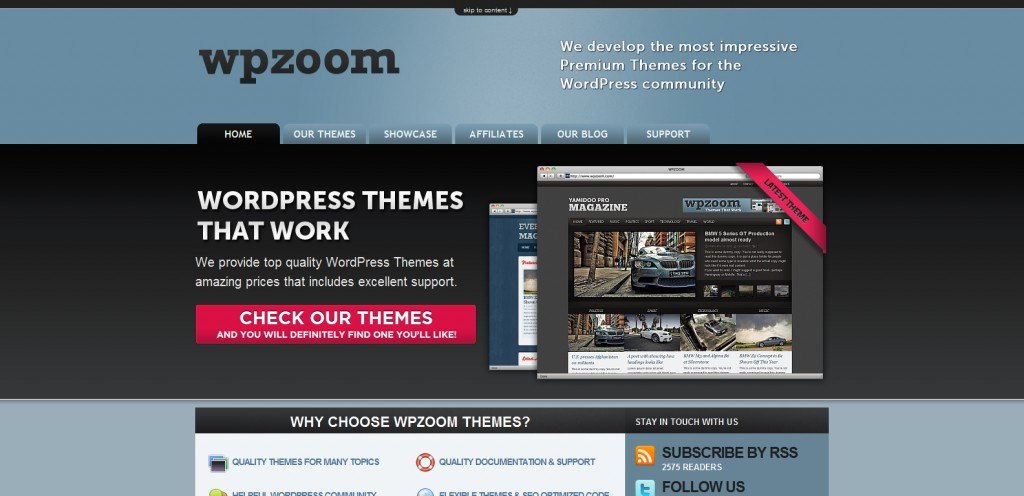 wpzoom 1024x496 31 Websites to Purchase Premium Wordpress Themes
