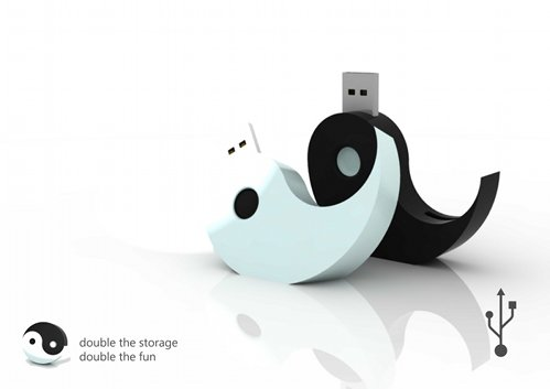 yin yang pen drives 55 Creative Examples of USB Designs