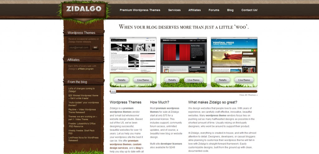 zidalgo 1024x496 31 Websites to Purchase Premium Wordpress Themes