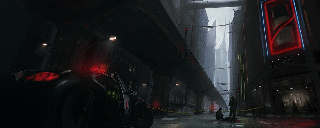 Another Crime Scene 1023x411 Stunning Digital Art by Andree Wallin