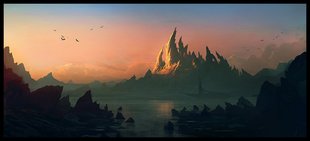 Another mountain 1024x465 Stunning Digital Art by Andree Wallin