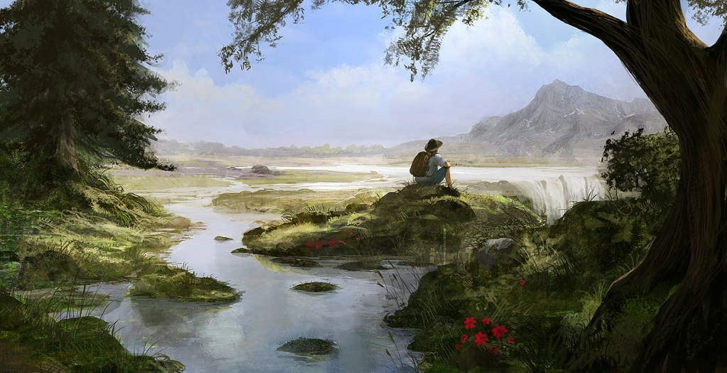 Backpacking 1024x525 Stunning Digital Art by Andree Wallin