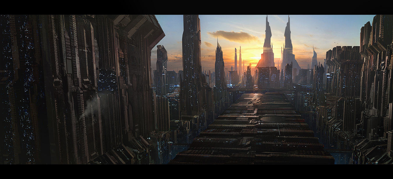 Metropolis Stunning Digital Art by Andree Wallin