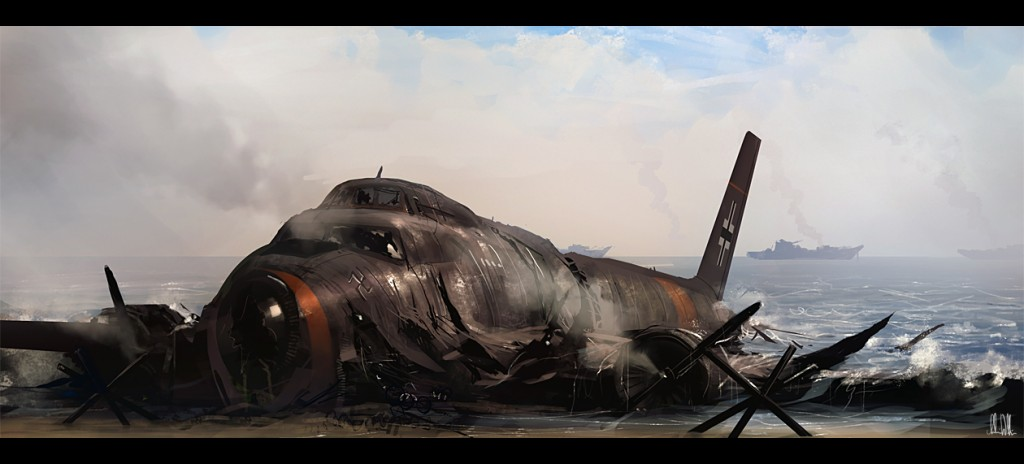 Shot down 1024x464 Stunning Digital Art by Andree Wallin
