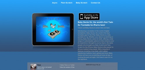 babydecks1 499x242 49 Creative iPad Application Websites