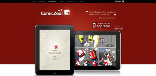 comic zeal v4 499x242 49 Creative iPad Application Websites