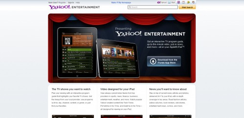 entertainment.yahoo  499x242 49 Creative iPad Application Websites