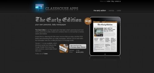 glasshouseapps 500x240 49 Creative iPad Application Websites