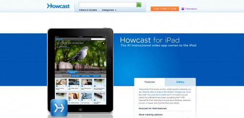 howcast 499x242 49 Creative iPad Application Websites
