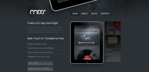 ipadmixr 499x242 49 Creative iPad Application Websites
