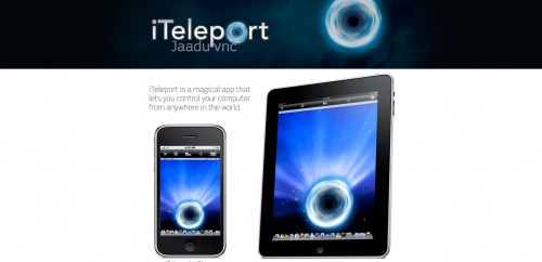 iteleportmobile 500x242 49 Creative iPad Application Websites