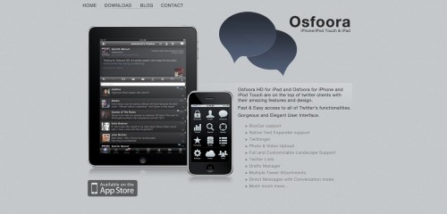 osfoora1 500x240 49 Creative iPad Application Websites