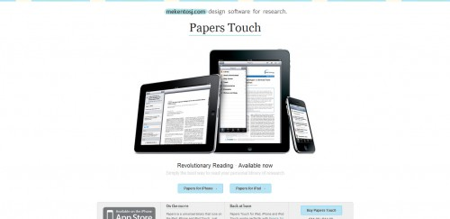 papers touch 500x243 49 Creative iPad Application Websites