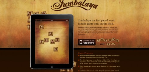 playjumbalaya 499x242 49 Creative iPad Application Websites