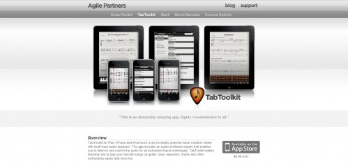 tabtoolkit 499x242 49 Creative iPad Application Websites