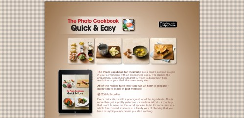 thephotocookbook 499x242 49 Creative iPad Application Websites