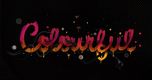 colourful 500x266 50 Remarkable Examples of Typography Design #2