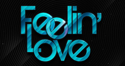 feelin love 500x266 50 Remarkable Examples of Typography Design #2