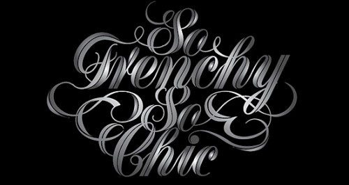 frenchy 500x266 50 Remarkable Examples of Typography Design #2